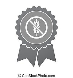 Isolated badge with  a gluten free sign