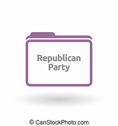 Isolated folder with the text Republican Party -...