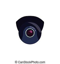 Security camera system icon vector illustration graphic...