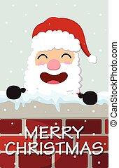 Christmas Santa Claus reindeer, and snowmen background