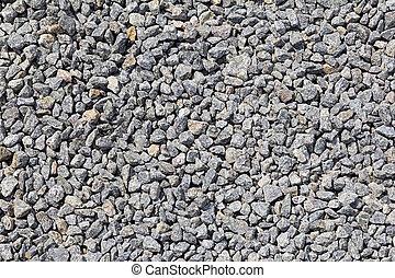 Background of gray granite gravel - Granite gravel of...