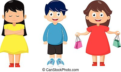 Happy kids cartoon