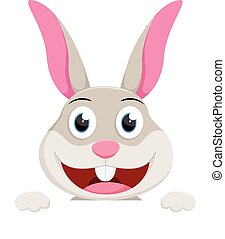 Cute rabbit cartoon - vector illustration of Cute rabbit...