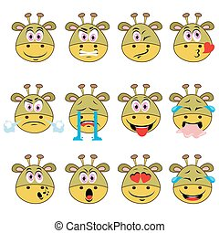 Monster Emojis Set of Emoticons Icons Isolated