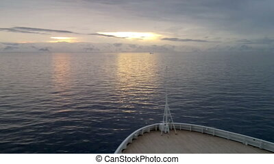 View of sunrise over Brabant Island, seen from a cruise...