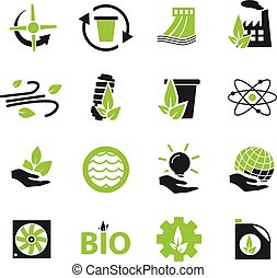 Alternative energy icons - Alternative energy simply icons...