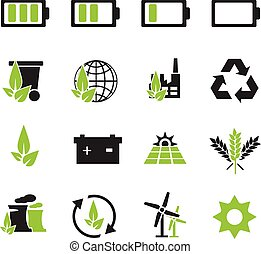 Alternative energy icons - Alternative energy simply icons...