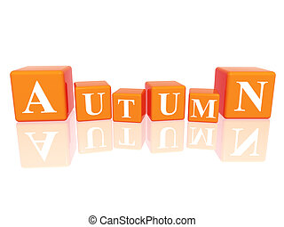 autumn in 3d cubes