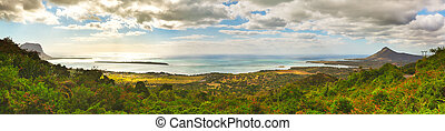 View from the viewpoint. Mauritius. Panorama