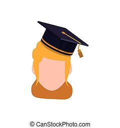 Young student profile icon vector illustration graphic...