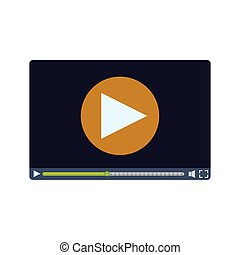 Video medial player icon vector illustration graphic design