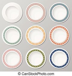 Plates with ornaments