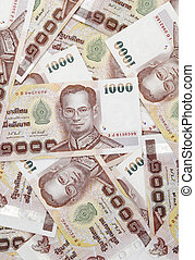 bhat - Thai money background