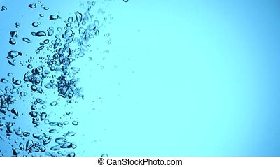 bubbles in water slow motion