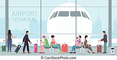 Airport terminal. travel