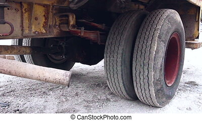 Truck Exhaust - Diesel truck it blows out smoke from its...
