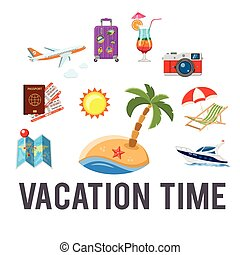Vacation time Concept - Vacation and Tourism Concept with...