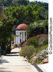 Arbor in a garden in the Mediterranean