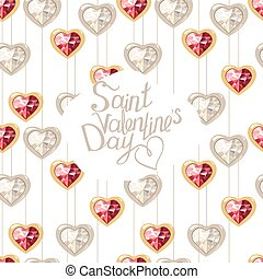 Seamless pattern with phrase Saint Valentine's Day