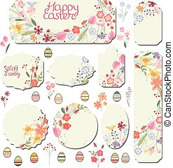 Set with floral templates. Stiylized wild flowers for your...