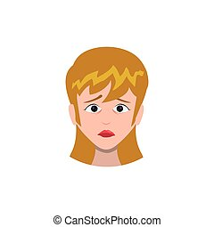Concerned cartoon face icon vector illustration graphic...