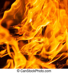 Fire texture, flame abstract background - Texture of fire,...