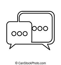 square chat bubbles icon, vector illustration design