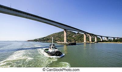 The main bridge in Vitoria in Espirito Santo, Brazil