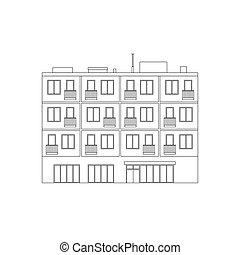 Apartment house line drawing
