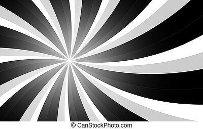 Vintage grunge black and white radial lines background....
