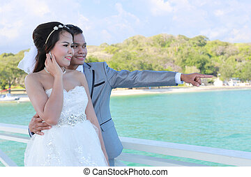 Pre Wedding photography thai couples at Koh Si Chang Island....