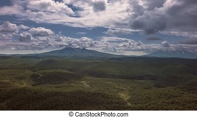 Kronotsky Nature Reserve on Kamchatka Peninsula. View from...