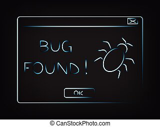 vector pop-up message Bug found - funny vector pop-up...