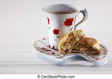 Snack - Tea with some rasin scones.