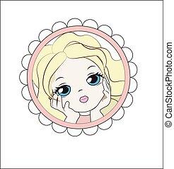 girl flower blonde