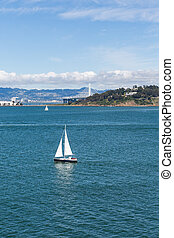 Sailboat with Bay Bridge in Background