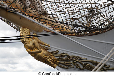 Figurehead on Sailship - From the Tall Ship Race 2007 at...