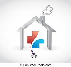 family health care coverage concept illustration design...