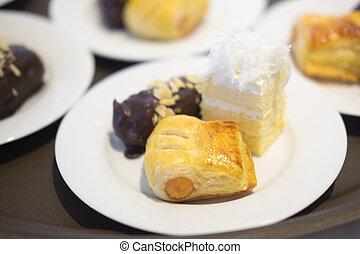 Tasty sweet dessert for coffee break