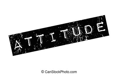 Attitude rubber stamp. Grunge design with dust scratches....