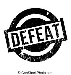 Defeat rubber stamp. Grunge design with dust scratches....