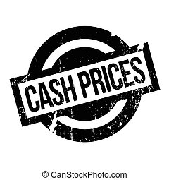 Cash Prices rubber stamp. Grunge design with dust scratches....