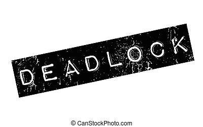 Deadlock rubber stamp. Grunge design with dust scratches....