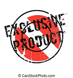Exclusive Product rubber stamp. Grunge design with dust...