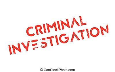 Criminal Investigation rubber stamp. Grunge design with dust...