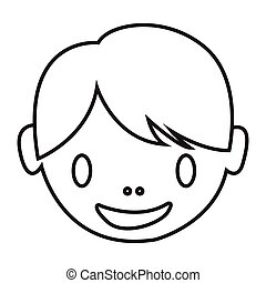 simple thin line kids  icon vector