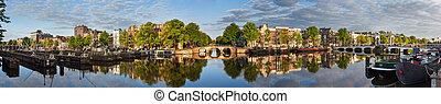 Amstel Amsterdam panorama - Beautiful panoramic panorama of...