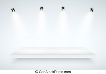 White Presentation platform - Light box with white...