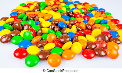 colorful candies. Colorful chocolate candy for backgrounds