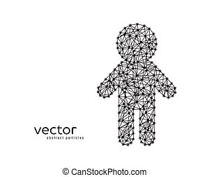 Abstract vector illustration of child.